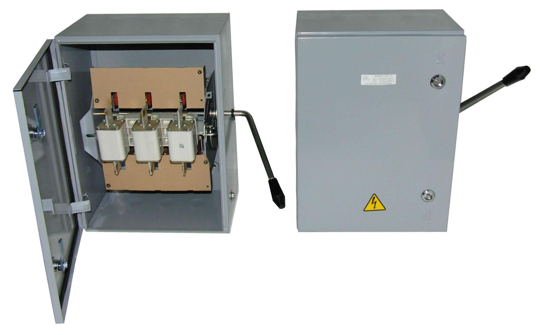 Ящик силовой с блоком предохранитель - выключатель ЯБПВУ-2 (ЯБПВУ-250А(54))