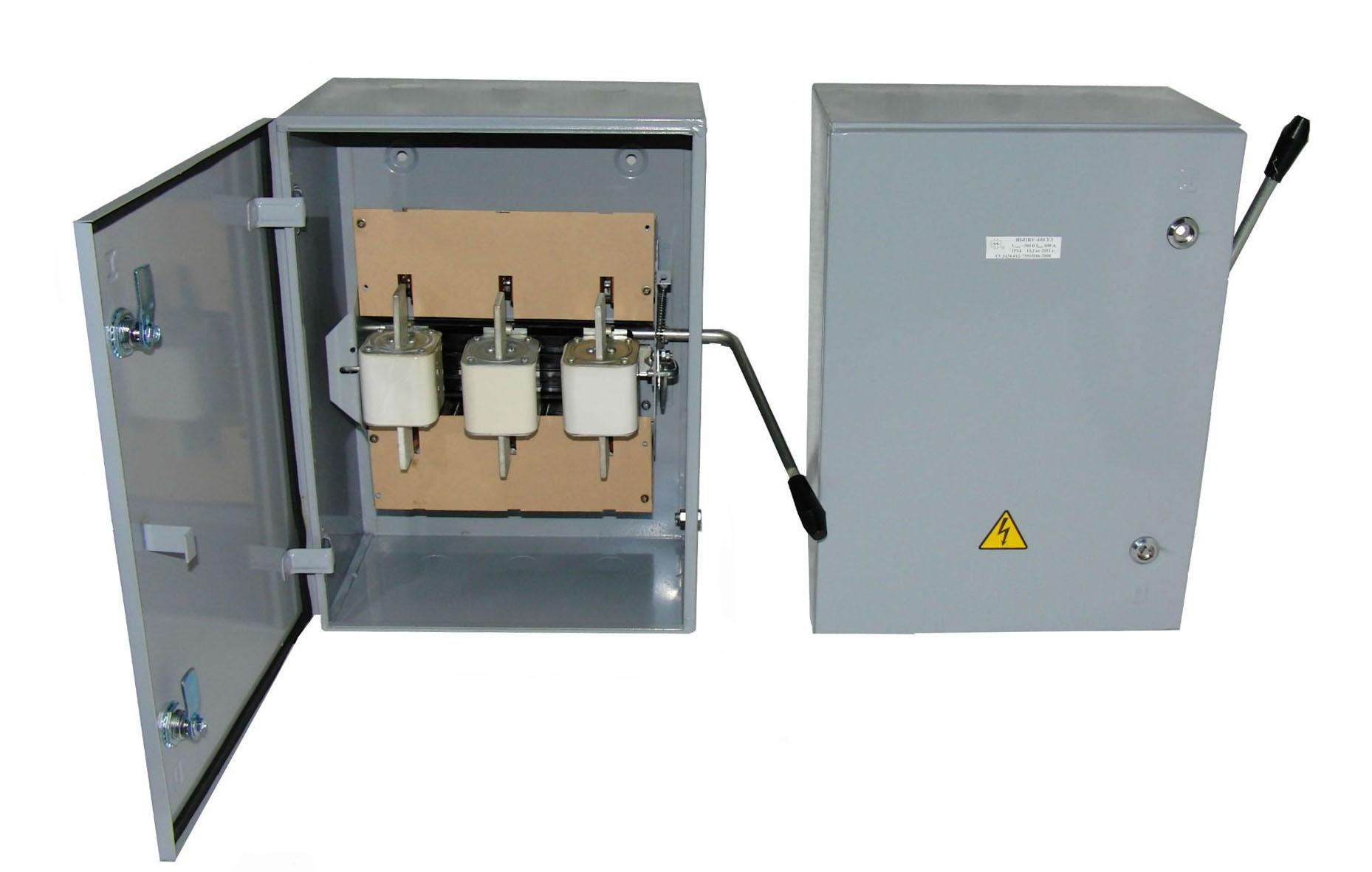 Ящик силовой с блоком предохранитель - выключатель ЯБПВУ-4 (ЯБПВУ-400А(54))
